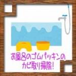 お風呂のゴムパッキンのカビ取り掃除!重曹にクエン酸が効果的?