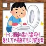 トイレ便器の黒カビ黒ずみ!落とし方取り方や掃除方法に予防対策は?