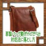 革製バッグ鞄がカビだらけ!対処法や落とし方に臭いの取り方