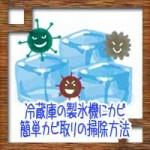 冷蔵庫の製氷機にカビ!?原因対策に簡単カビ取りの掃除方法