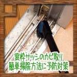 窓枠サッシのカビ取り!簡単掃除方法に予防対策について