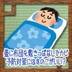 畳に布団を敷きっぱなしでカビ!予防対策にはすのこがいい?