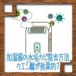 加湿器の水垢カビ除去方法!フィルター掃除はクエン酸が効果的?