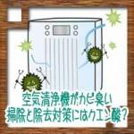 空気清浄機がカビ臭い!フィルター掃除と除去対策にはクエン酸?