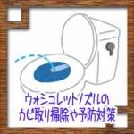 ウォシュレット(温水洗浄便座)ノズルのカビ取り掃除や予防対策!