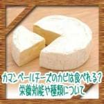 カマンベールチーズのカビは食べれる?栄養効能や種類について